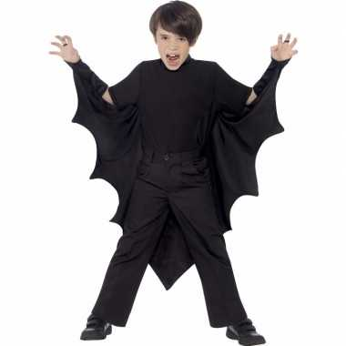 Originele zwarte vleermuis vleugels kinderen carnavalskleding