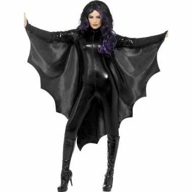 Originele zwarte vleermuisvleugels dames carnavalskleding