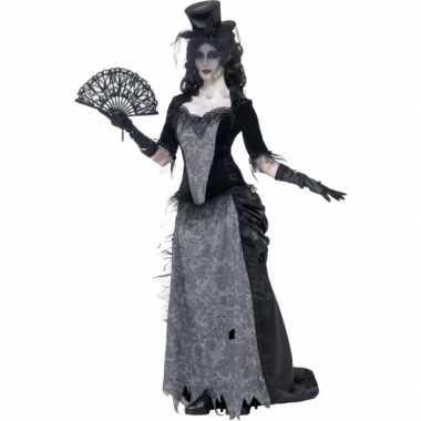 Originele zwarte weduwe carnavalskleding victoriaans