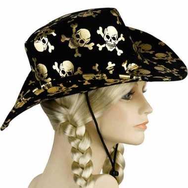 Zwarte piraten hoeden deoriginele carnavalskleding