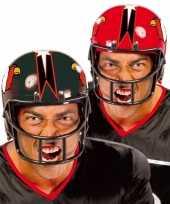 Originele american football carnaval helm rood carnavalskleding