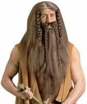 Originele barbaar pruik baard snor carnavalskleding