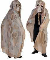 Originele beige doodshoofd spook carnavalskleding