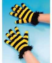 Originele bijen handschoenen carnavalskleding