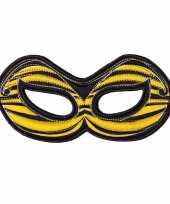Originele bijen oogmasker geel kinderen carnavalskleding