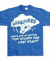 Originele blauw hangovers t shirt carnavalskleding