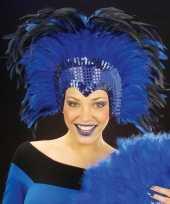 Originele blauwe hoofdtooi volwassenen carnavalskleding