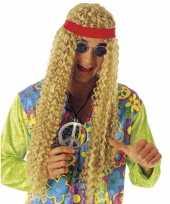 Originele blonde pruik bandana carnavalskleding
