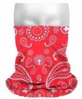 Originele boeren zakdoekprint hoofdband carnavalskleding