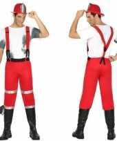 Originele brandweerman joe carnavalskleding bretels heren