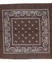 Originele bruine bandana zakdoek carnavalskleding