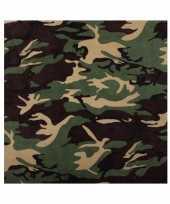 Originele camouflage woodland bandana carnavalskleding