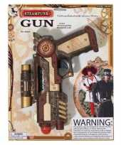 Originele carnaval accessoires steampunk revolver carnavalskleding