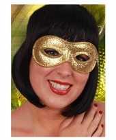 Originele carnaval oogmasker goud carnavalskleding