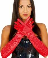 Originele carnaval satijnen rode gala handschoenen carnavalskleding