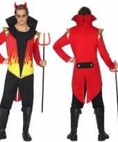 Originele carnavalskleding duivel vlammen