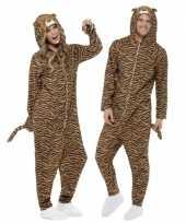 Originele carnavalskleding tijger all one volwassenen