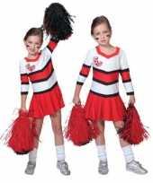 Originele cheerleader carnavalskledings rood wit