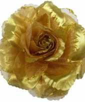 Originele corsage gouden glitter bloem accessoire carnavalskleding