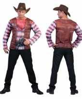 Originele cowboy t shirt heren carnavalskleding