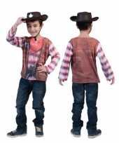 Originele cowboy t shirt kids carnavalskleding