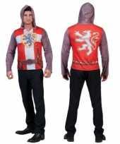 Originele d print ridder shirt heren carnavalskleding