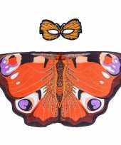 Originele dagpauwoog vlinder verkleedset meisjes carnavalskleding
