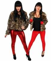Originele dames bontjasje panter print carnavalskleding