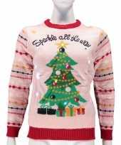 Originele dames foute kersttrui sparkle all the way lichtjes carnavalskleding