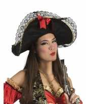 Originele dames piratenhoed strik carnavalskleding