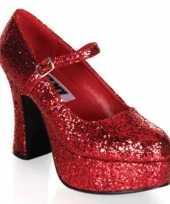 Originele damesschoenen glitter rood carnavalskleding
