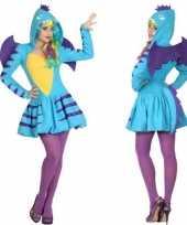 Originele dieren carnavalskleding blauwe draak verkleed carnavalskleding carnavalskleding dames