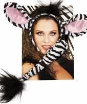 Originele dieren verkleedset zebra carnavalskleding