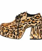 Originele disco luipaard print schoenen heren carnavalskleding