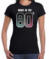 Originele eighties t shirt shirt made the s geboren jaren zwart dames carnavalskleding