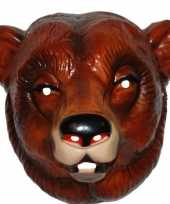 Originele feestmasker beer bruin volwassenen carnavalskleding