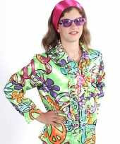 Originele flower power blouse kids peace carnavalskleding