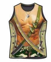 Originele funny t shirts soldaten print carnavalskleding