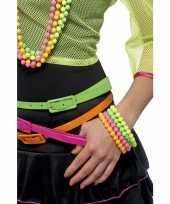 Originele gekleurde armbanden neon x carnavalskleding