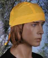 Originele gele hoofddoek uni carnavalskleding