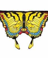Originele gele zwaluwstaartvlinder vleugels kids carnavalskleding