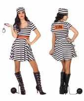 Originele gevangene boef bonnie verkleed carnavalskleding carnavalskleding dames