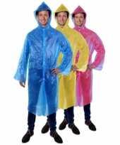 Originele goedkope wegwerp regenjas blauw carnavalskleding
