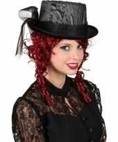 Originele gothic hoge hoed kant carnavalskleding