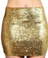 Originele gouden glitter pailletten disco rokje dames carnavalskleding