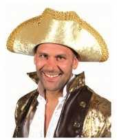 Originele gouden hoed volwassenen carnavalskleding
