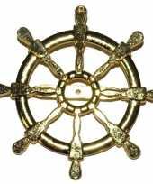 Originele gouden matroos zeeman verkleed broche scheepsroer carnavalskleding