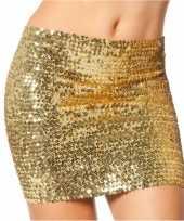 Originele gouden top rok pailletten carnavalskleding
