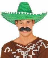Originele groene sombrero mexicaanse hoed volwassenen carnavalskleding