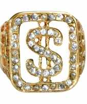 Originele grote ring goud diamanten carnavalskleding